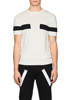 Neil Barrett Men's Coloblocked Tech-Jersey Shirt