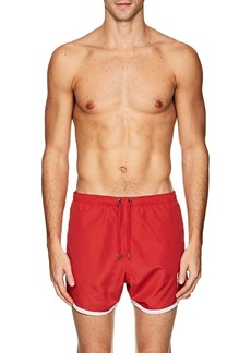 Neil Barrett Men's Contrast-Trimmed Slim Swim Trunks