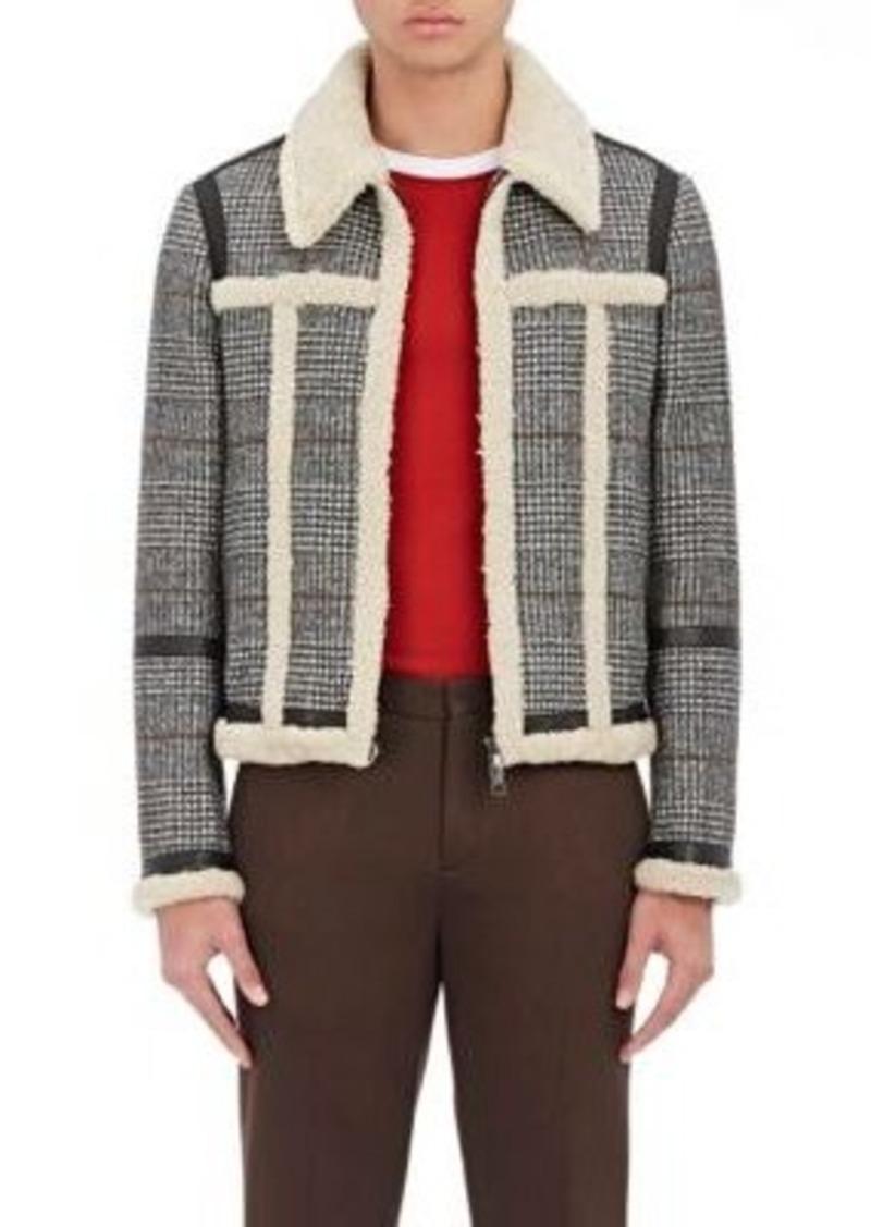 Neil Barrett Men's G-1 Shearling-Trimmed Wool-Blend Bomber Jacket