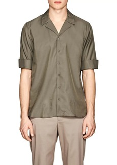 Neil Barrett Men's Gabardine Camp Shirt