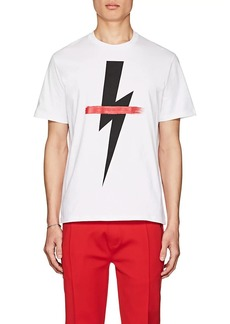 Neil Barrett Men's Graphic Cotton T-Shirt