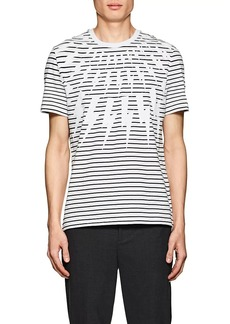 Neil Barrett Men's Lightning-Bolt-Print Cotton T-Shirt