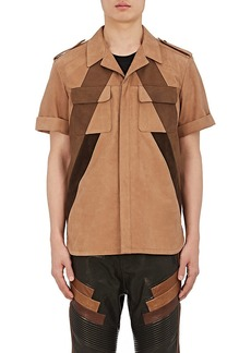 Neil Barrett Men's Nubuck Oversized Shirt