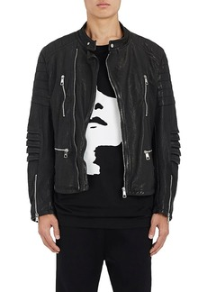 Neil Barrett Men's Painted Leather Moto Jacket