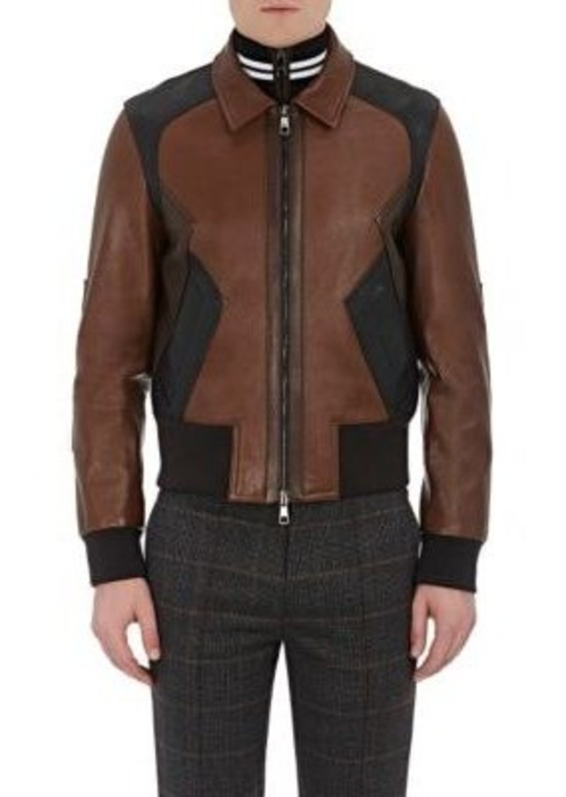 Neil Barrett Men's Patchwork Leather Jacket