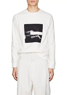 Neil Barrett Men's Splash-Print Cotton Terry Sweatshirt