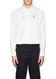 Neil Barrett Men's Tape Twill Oversized Shirt