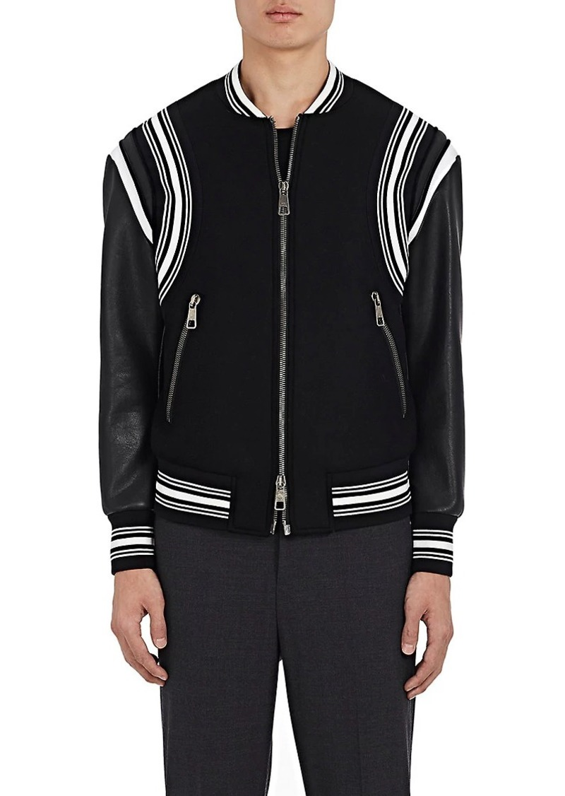 d0d563c84 Men's Wool & Leather Varsity Bomber Jacket