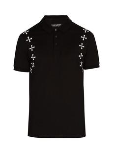 Neil Barrett Military cotton-piqué polo shirt
