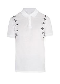 Neil Barrett Military star-appliqué cotton polo shirt