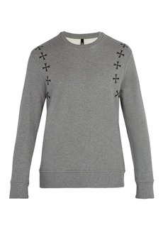 Neil Barrett Military star-print crew-neck cotton sweatshirt