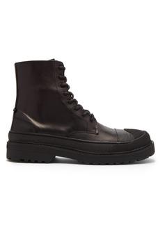 Neil Barrett Military Tank leather boots