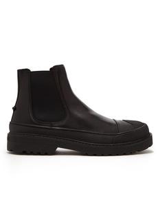 Neil Barrett Military Tank leather chelsea boots