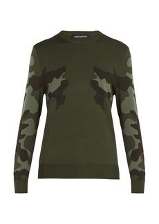 Neil Barrett Mirrored camouflage-print sweater