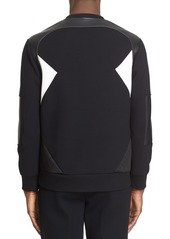 Neil Barrett Mixed Media Sweatshirt