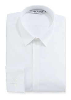 Neil Barrett Modernist Mixed Texture Dress Shirt