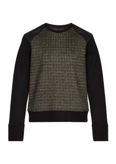 Neil Barrett Panelled virgin-wool sweatshirt
