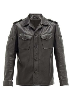 Neil Barrett Patch-pocket leather jacket