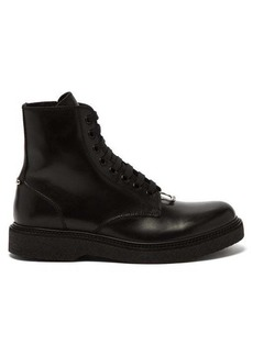 Neil Barrett Pierced leather lace-up boots
