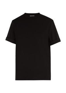 Neil Barrett Poplin-sleeved crew-neck cotton-blend T-shirt