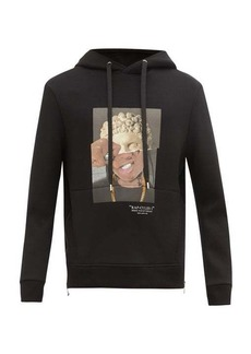 Neil Barrett Rap-cules 1-print jersey hooded sweatshirt