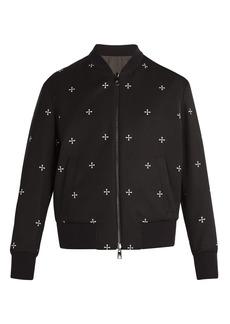 Neil Barrett Reversible military star bomber jacket