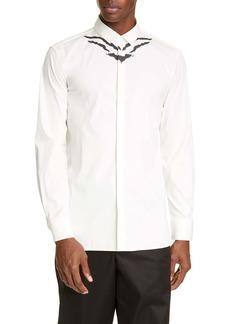 Neil Barrett Slim Fit Abstract Print Button-Up Shirt