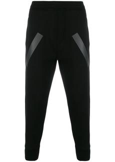 Neil Barrett stripe panel track pants