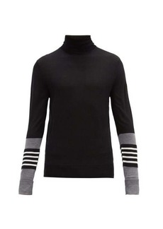 Neil Barrett Striped-cuff wool-blend sweater