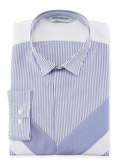 Neil Barrett Striped Modernist Sport Shirt