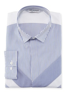 Neil Barrett Striped Modernist Sport Shirt