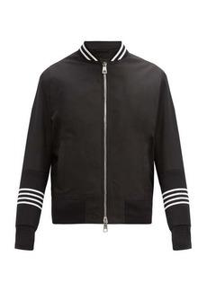 Neil Barrett Striped satin bomber jacket