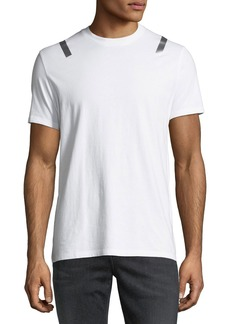 Neil Barrett Taped-Shoulder Jersey T-Shirt