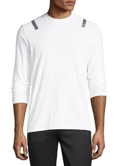 Neil Barrett Taped-Shoulder Long-Sleeve T-Shirt