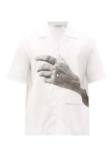 Neil Barrett The Other Hands-print cotton-poplin shirt