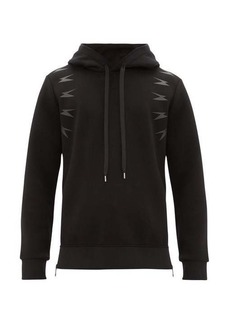Neil Barrett Thunder side-zip hooded sweatshirt