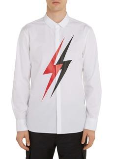 Neil Barrett Thunderbolt Button-Up Shirt