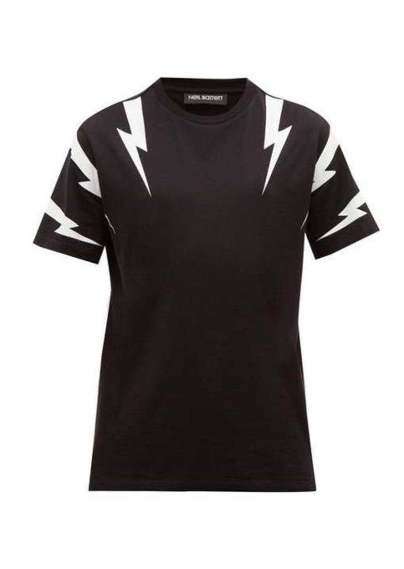 Neil Barrett Thunderbolt logo-print cotton T-shirt