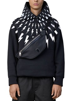 Neil Barrett Thunderbolt Print Hooded Sweatshirt