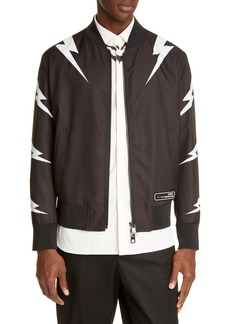 Neil Barrett Thunderbolt Slim Fit Bomber Jacket