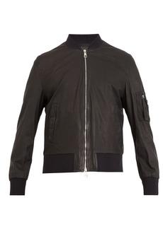 Neil Barrett Washed-leather bomber jacket