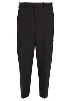 Neil Barrett Wool-blend cargo trousers
