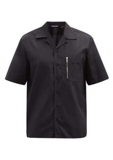 Neil Barrett Zip-pocket cotton-poplin short-sleeved shirt