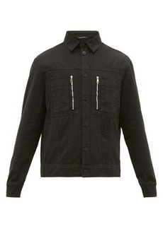 Neil Barrett Zipped-pocket denim jacket