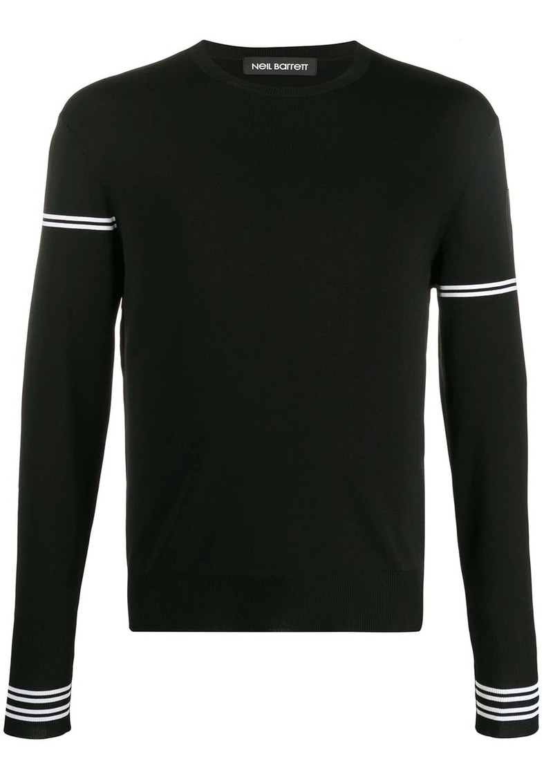 Neil Barrett off-centred stripe detail jumper