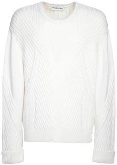 Neil Barrett Over Wool Blend Knit Sweater