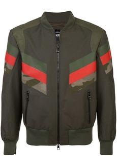 Neil Barrett panelled stripe bomber jacket