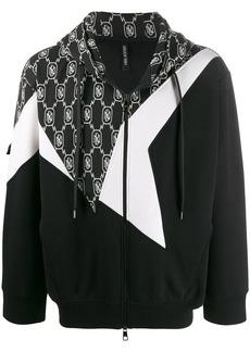 Neil Barrett patchwork Bolt hoodie