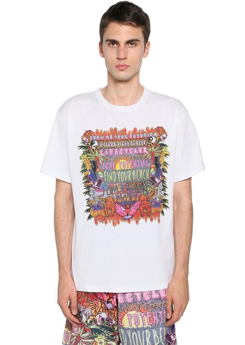 Neil Barrett Printed Cotton Blend Jersey T-shirt