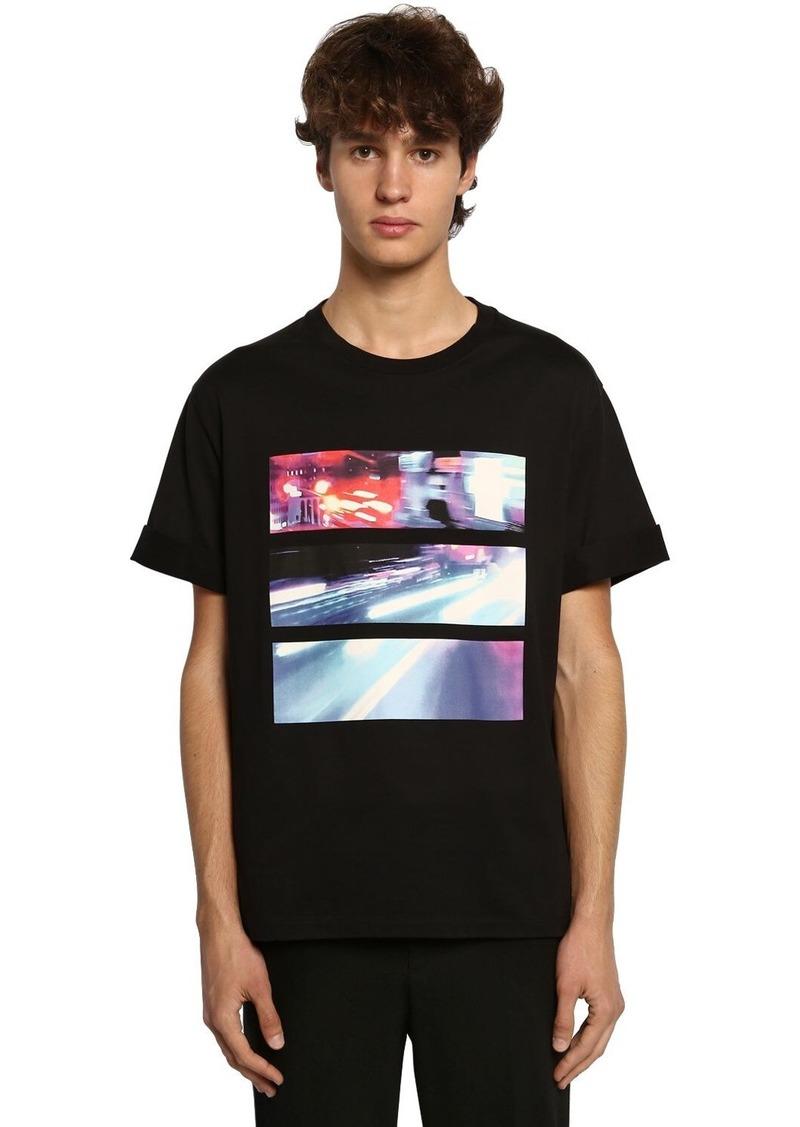 Neil Barrett Printed Cotton Jersey T-shirt
